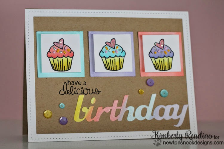 cupcake card by Kimberly Rendino | kimpletekreativity.blogspot.com | Newton's Nook Designs