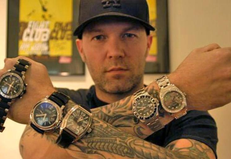 billionaire gambler fred durst sells his rolex watches