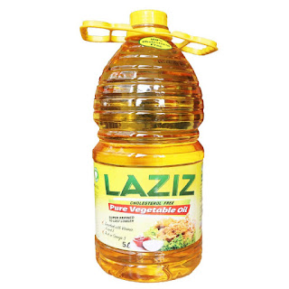 Laziz Vegetable Oil 5 Liters on a white background