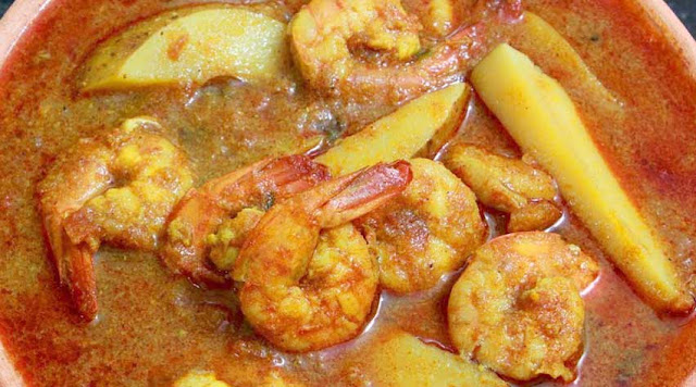 Prawn Potato Curry (Chungudi Aloo Tarakari) Odia Cooking Recipe