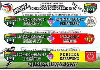 Sore Nanti, SEL 50 FC Memulai Laga Perdana Versus KS Tiga Naga di Stadion Singa Harau Limapuluh Kota