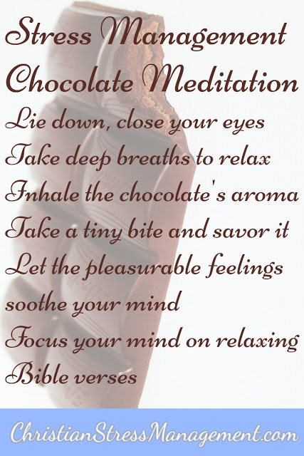 Christian Chocolate Meditation for Stress Management