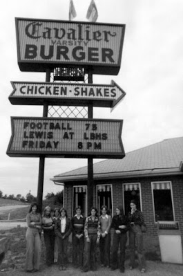 "The county's first ""fast food"" joint, circa 1973."