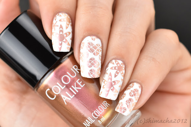 colour alike mars, nail stamping, スタンピングネイル