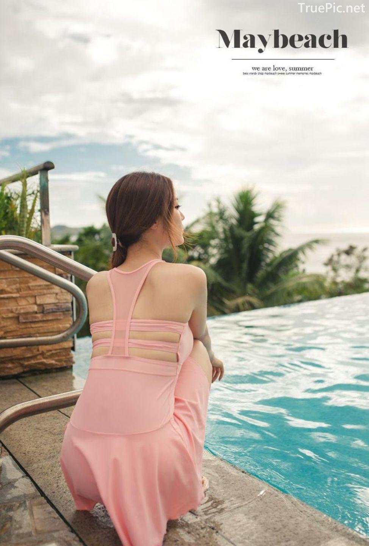 Korean model fashion - Park Jeong Yoon - Amanda One Piece Swimsuit - Picture 9