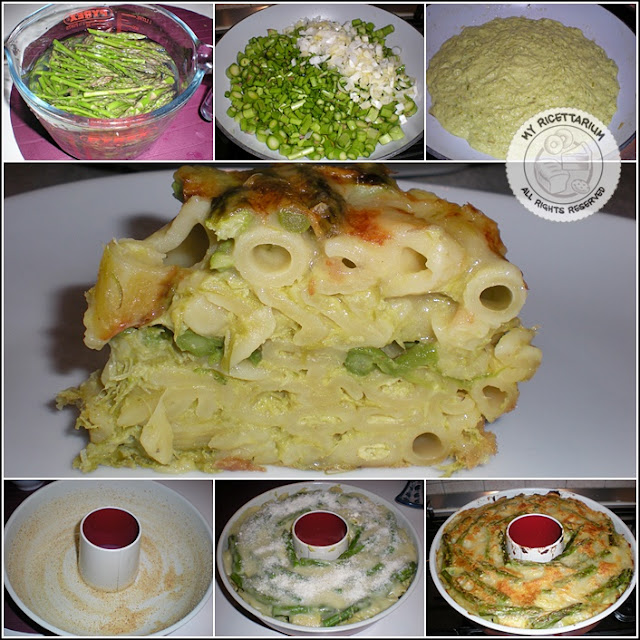 Timballo di pasta con asparagi