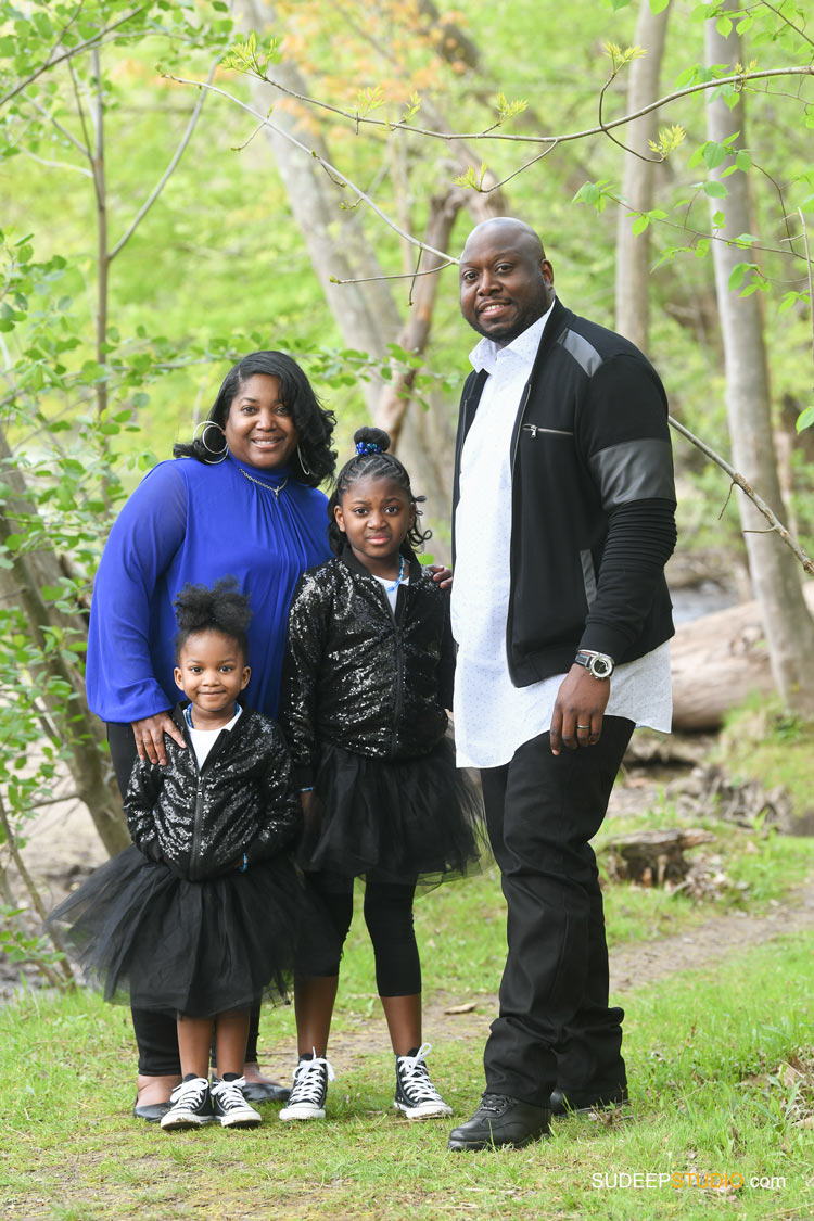 Ann Arbor Family Portrait Photography in Arboretum Outdoor Nature SudeepStudio.com