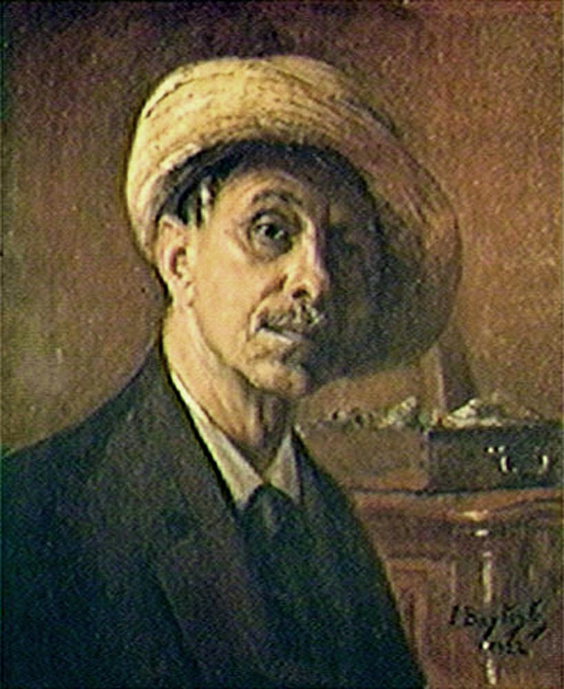 João Baptista da Costa, Self Portrait, Portraits of Painters, Fine arts, Painter João Baptista da Costa