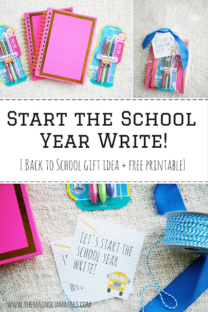 Super cute writing themed back to school gift idea! Great gift for teacher's meet and greets for back to school or as a student gift on the first day!