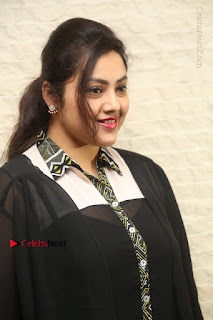 Tamil Actress Meena Latest Stills in Black Dress at TSR TV9 Awards Press Meet  0004.JPG