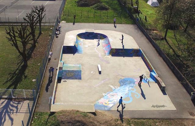 skatepark frontenex drone