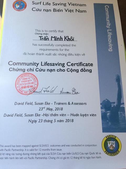 Tập huấn cứu nạn biển và cứu nạn cho cộng đồng 2018