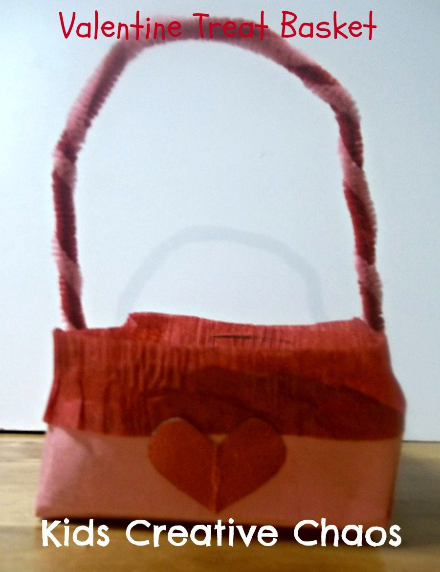 How To Make A Paper Valentine Treat Basket For Mom Gift As A