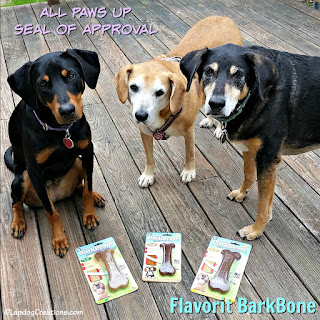 3 rescue mixed breed dogs flavorit dog chew barkbone