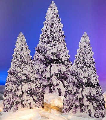 Winter Tree Standees  penguin bedrooms - polar bear bedrooms - arctic theme bedrooms - winter wonderland theme bedrooms - snow theme decorating ideas - penguin duvet covers - penguin bedding - Snow queen - winter wonderland party ideas - Alaska - White Christmas