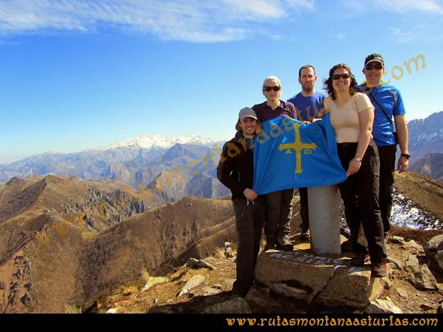 Ruta Pico Vízcares: Foto de cima en el Vízcares
