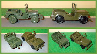 AFV's; Airfix Model; Airfix Readymade; Army Vehicles; France; French Toys; Noreda France; Noreda Plastic AFV's; Noreda Plastic Jeep; Plastic Jeep; Small Scale World; smallscaleworld.blogspot.com; Toy AFV's; Toy Army Vehicles; Toy Jeeps; Toy Trucks; Airfix Jeep