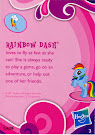 My Little Pony Pony Collection Set Rainbow Dash Blind Bag Card