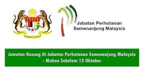 Jawatan Kosong Di Jabatan Perhutanan Semenanjung Malaysia