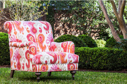 Norwalk Furniture Pink Paisley Chair