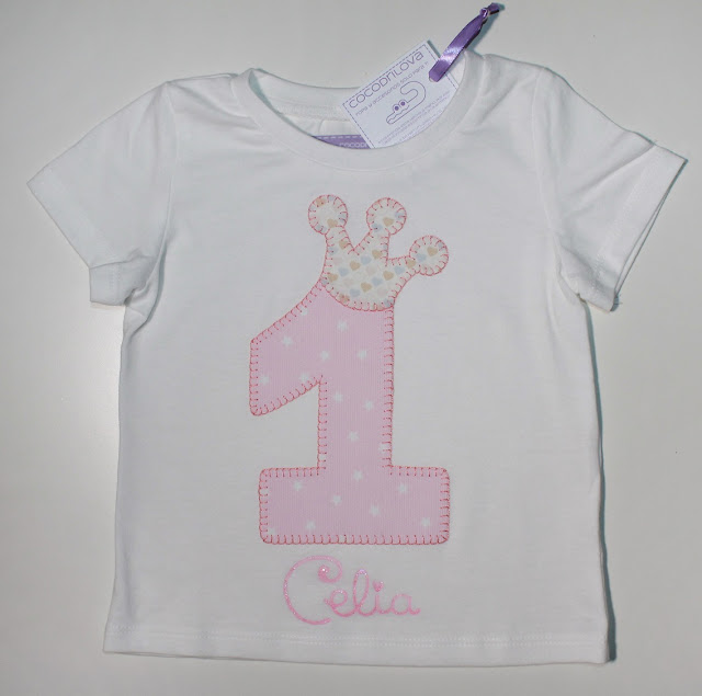camiseta de cumpleaños 1 año