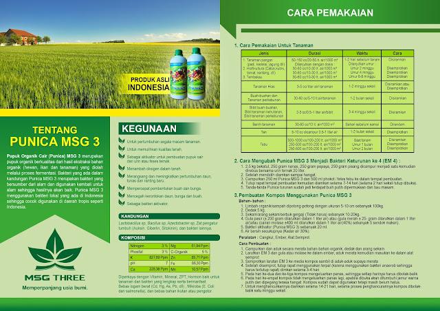 Pupuk Organik Cair (PUNICA) MSG 3 Untuk Tanaman