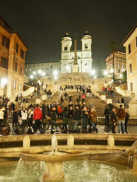Spanish Steps at night, Rome, Italy