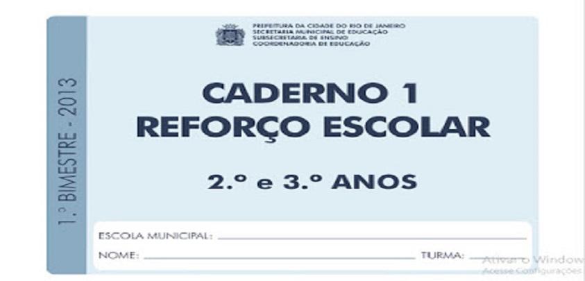 Excepcional BAIXE EM PDF - Caderno reforço escolar para 2º e 3º ano do Ensino  UH85