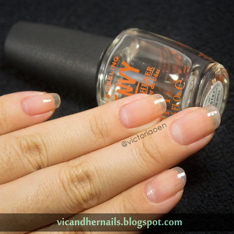 Nail Envy Vs Nail Tek: Victoria's Nails With Base Nail Envy (rounded Nails