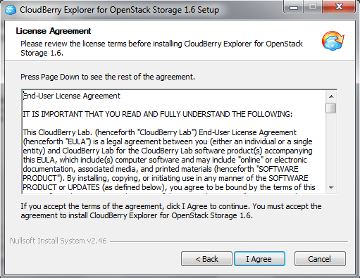 OpenStack Freeware Tool Accept License