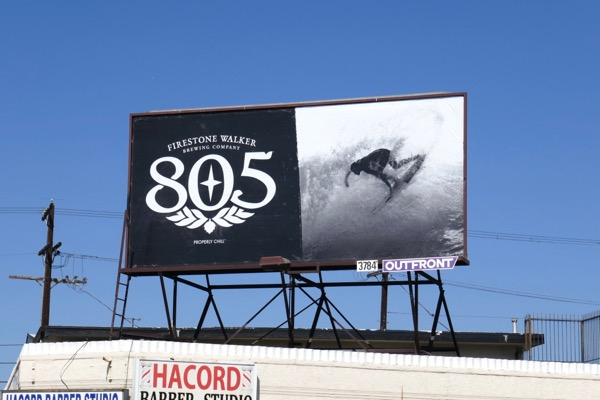 Firestone Walker 805 beer surfer billboard