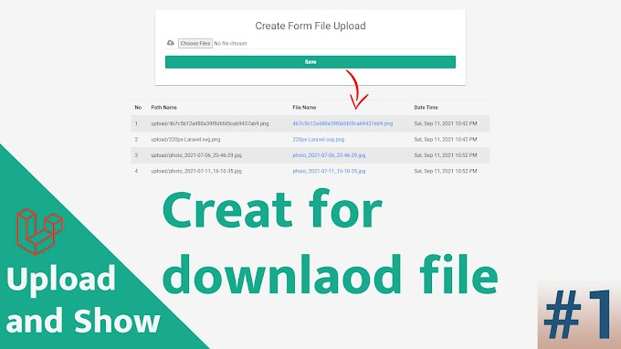 Upload file multiple and display for download Laravel 8