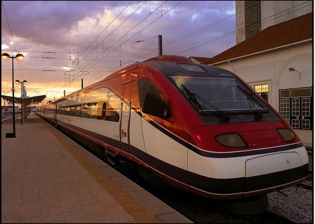 Trem no Porto