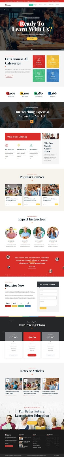 Education Course Responsive Template