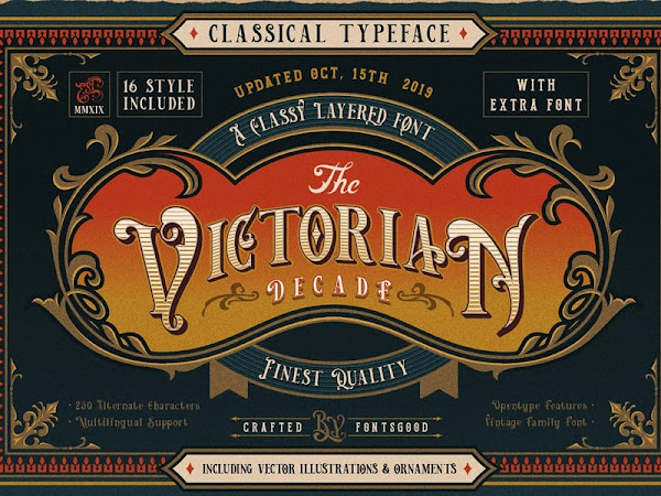 Royal Layered Font Victorian Decade