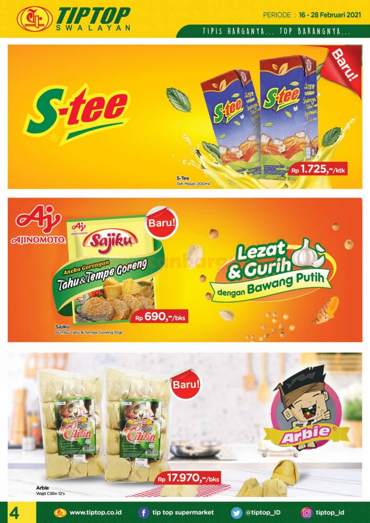 Katalog Promo Tip Top Pasar Swalayan 16 - 28 Februari 2021 4