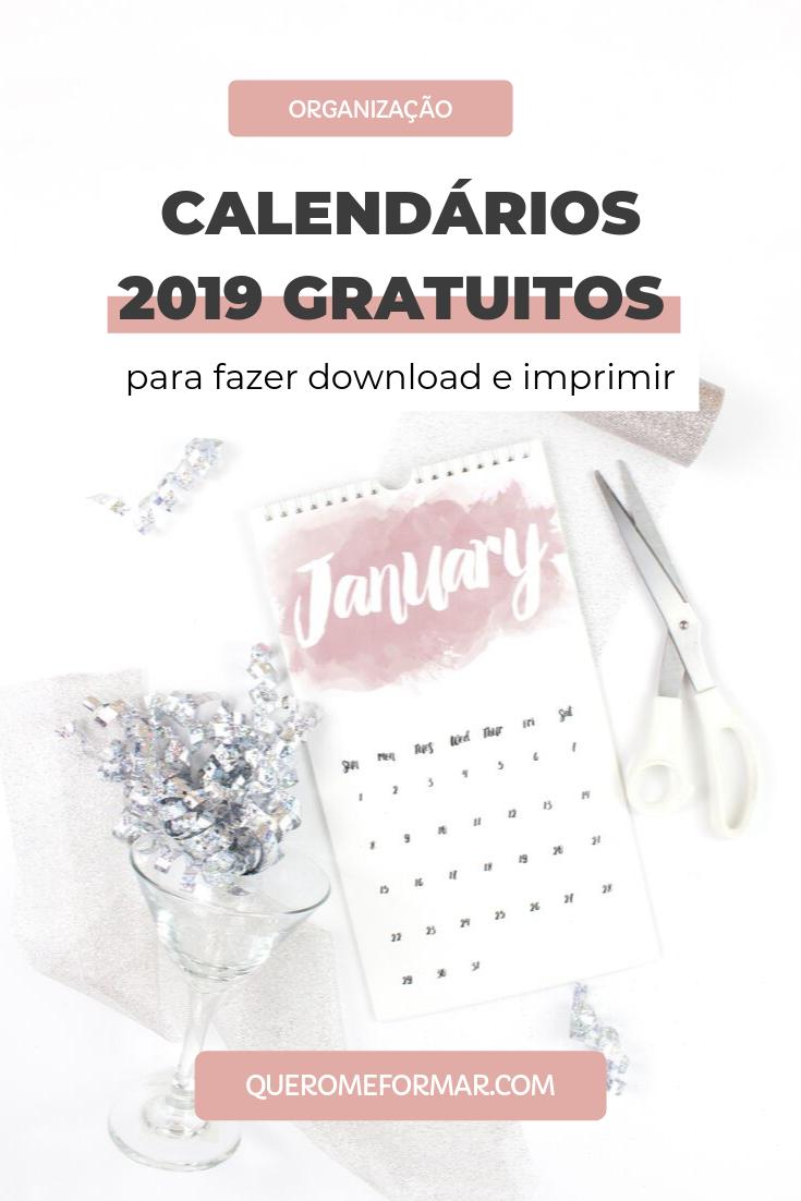 5 Calendários 2019 Personalizados Gratuitos para Fazer Download Imprimir e se Organizar