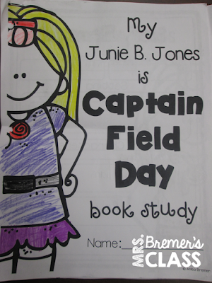 Junie B. Jones book study companion activities to go with the book Junie B. Jones is Captain Field Day. Perfect for First Grade and Second Grade- Common Core Aligned!