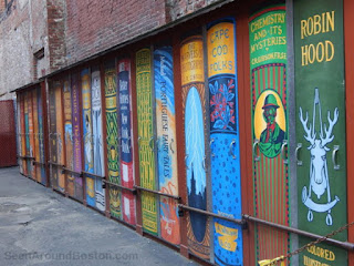 Brattle Book Shop's wall (2016)
