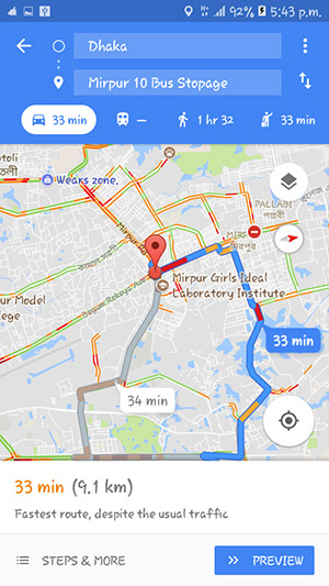 Google Maps Traffic Predictions