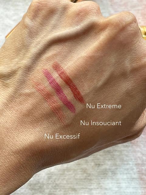 L'Oreal Color Riche Color Riche Les Nus Lipstick  Nu Excessif, Nu Insouciant, Nu Extreme Swatches
