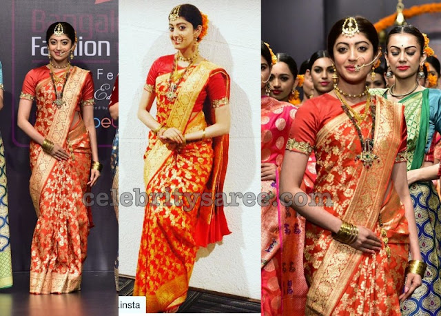 Pranitha Prachin Benaras Saree