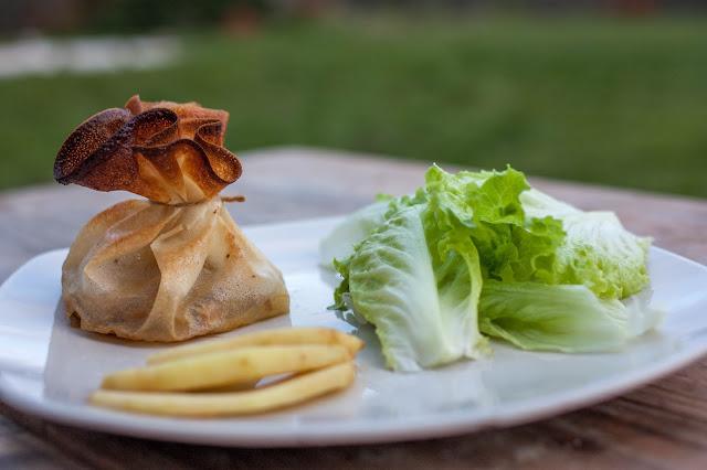 aumonière foie gras normandie