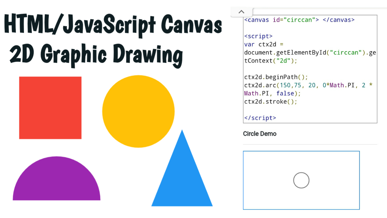 html JavaScript Canvas 2D graphic drawing