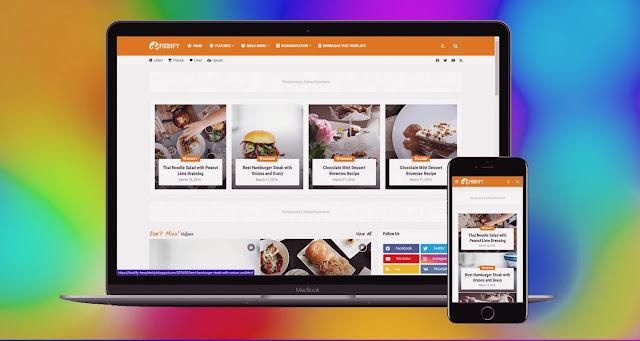 Foodify blogger template