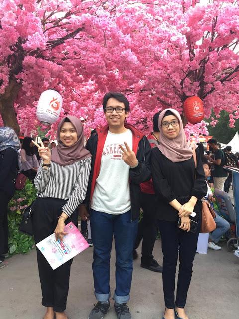 Gerbang Bunga Sakura Buatan yang Cantik