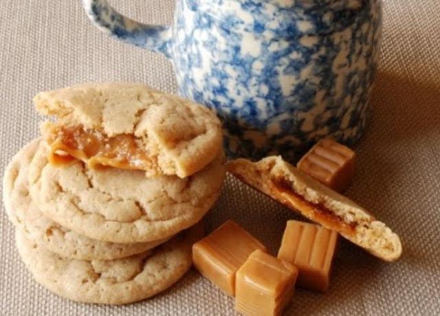 Caramel Apple Cider Cookies #cookies #desserts
