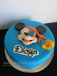 Bolo de aniversário Mickey Pirata