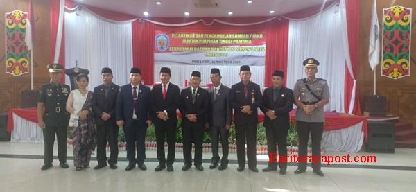 Hermon Resmi Sebagai Sekretaris Daerah Murung Raya