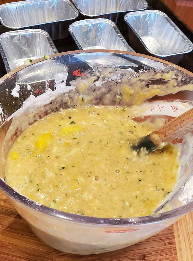 this is batter for zucchini bread with mango in it